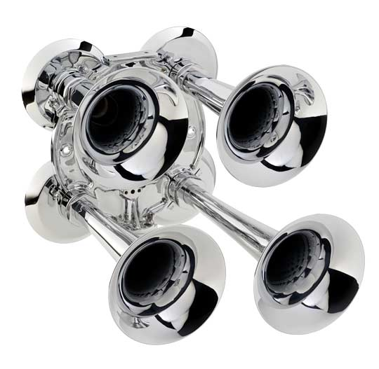 Kahlenberg Q3A chrome air horn array