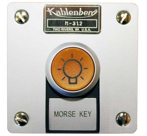 Kahlenberg M-312 illuminated Morse key