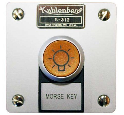Kahlenberg M-312 illuminated Morse key