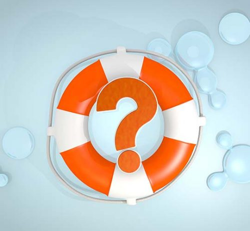 Question mark in lifebuoy